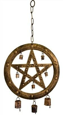 PENTAGRAM WINDCHIME Wicca Witch Pagan Goth Punk  PENTACLE WIND CHIME