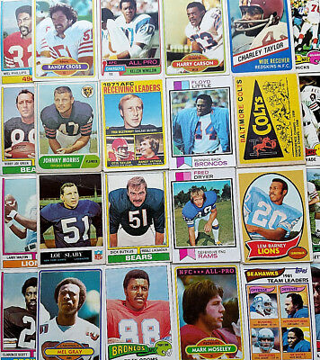 Old Large Lot of Vintage Football Cards