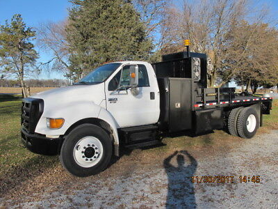2005 ford f750,winch truck,flatbed, flat bed,stakebed,stake bed,utility truck
