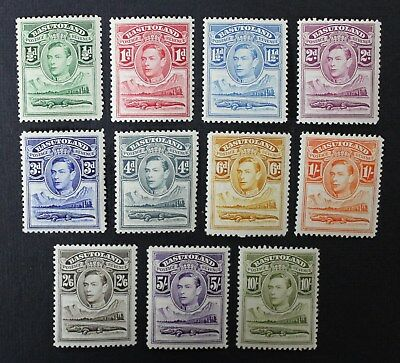 CKStamps: Great Britain Stamps Collection Basutoland Scott#18-28 (11) Mint H OG