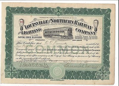 Stk-Louisville & Southern Indiana Co Green 1908 s/p Samuel Insull see image 6