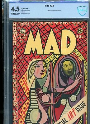 Mad 22 From 1955 CBCS Graded Sealed 4.5 VG+ Kurtzman Cover