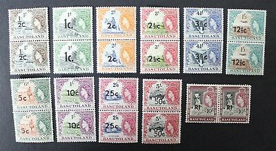 CKStamps:Great Britain Stamps Collection Basutoland Scott#61-71 (11) Mint NH OG