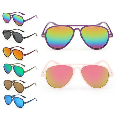 Boys Color Film Anti-UV Children Goggles Girls Baby Retro Kids Sunglasses