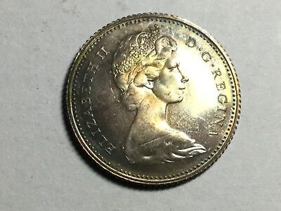 CANADA 1967 10 cent silver coin toned uncirculated