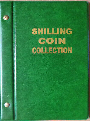 VST AUSTRALIAN 1/- COIN ALBUM SHILLING 1910 to 1963 with DATES MINTAGES PRINTED