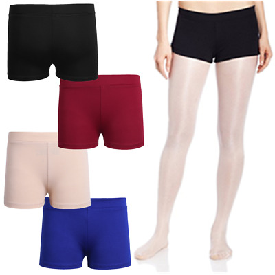Girls Boy Cut Booty Shorts Kids Stretchy Tights Dance Short Pants Yoga Sport Gym