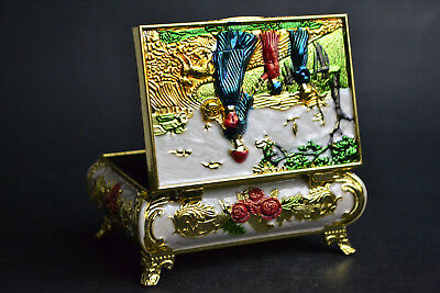 Collectible China western Beauty Cloisonne Handwork Beautiful Ring jewel Box