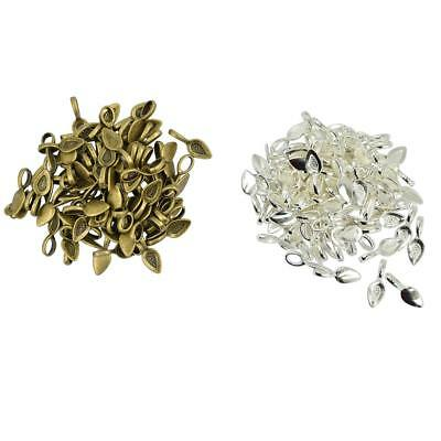 100pcs Vintage Glue on Bail Earring Pendant Charms Jewelry Findings Craft