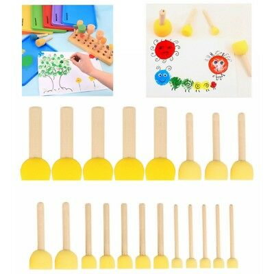 20pc/Set DIY Stencil Brush  Sponge Tool Furniture Craft Sponge Paint Foam