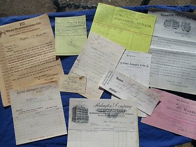 1870-1900's (11) Medical Quack,Remedies,GRAPHIC Letters,Documents,letterhead lot