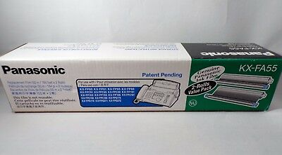 (2) PANASONIC KX-FA55 FAX FILM ROLL ROLLS for FAX MACHINE, KX-FP80, KX-FPG372