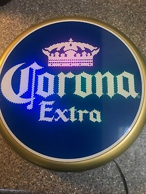 Corona Extra Beer Sign LED Lighted Bottle Cap Bar Pub Man cave