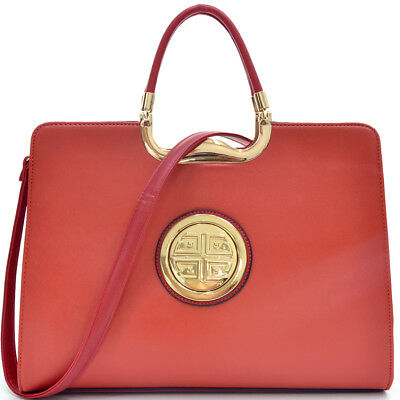 New Womens Handbag Leather Business Purse Laptop Case Briefcase Tote Bags Red
