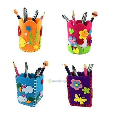 Educational Child Kids DIY Pencil Holder Storage Box Craft Baby Toy Puzzle Kits