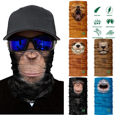 3D Animal Ski Cycling Snowboard Scarf Neck Warmer Face Mask Balaclava Bandana LA