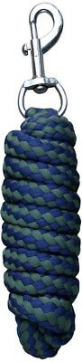 Harry's Horse Soft Standard Lead Rope - Navy & green Harry's Horse