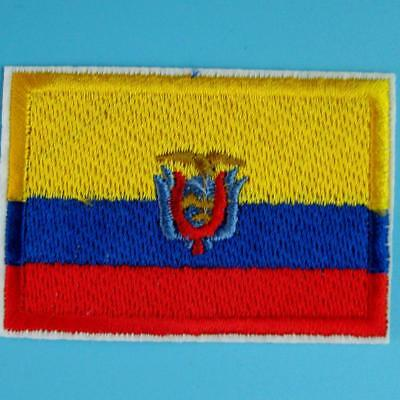 Ecuador Flag Iron Sew on Patch Embroidery Applique Motif Biker Nation Country