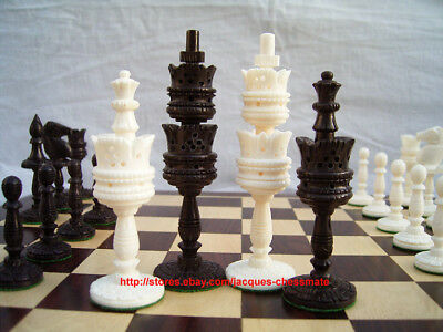 Nice Camel Bone Intricately Handcarved Unique Chess Set