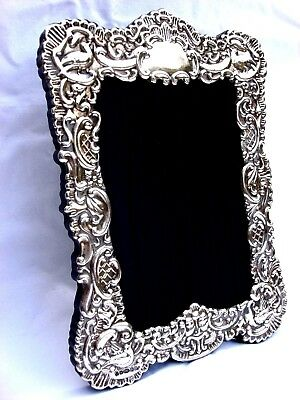 Fabulous Large Finest Quality 999 Hallmarked Silver London Britannia Photo Frame