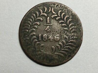 MEXICO Chihuahua 1846 1/4 Real worn, light,undersize planchet?