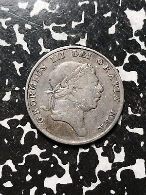 1812 Great Britain 1 Shilling 6 Pence Sixpence Token Lot#X2559 Silver! Scratches