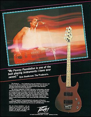 Kyle Henderson (The Producers band) 1984 Peavey Foundation Bass Guitar 8 x 11 ad