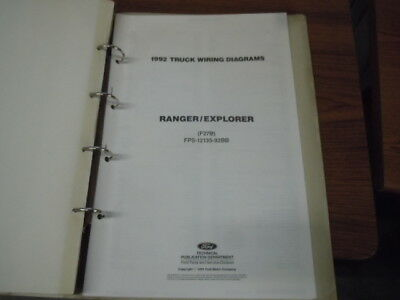 1992 Ford Ranger Explorer Wiring Diagram Schematic Manual Fps 12135 92bb Ds1690