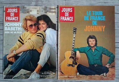 Huge lot of more190 clippings full page on JOHNNY HALLYDAY from 1962 to 2000's