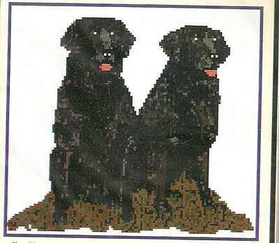 Flat Coated Retriever Counted Cross Stitch Complete Kit LAST ONE!