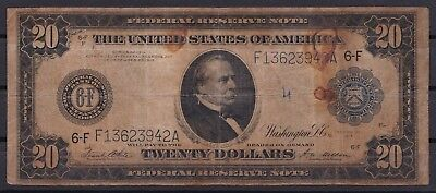 B-D-M United States 20 Dollars 1914 Pick 361bF Atlanta BC- G