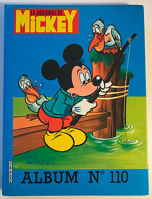 ALBUM LE JOURNAL DE MICKEY n°110 ¤ avec n°1664 à 1673 ¤ 1984 + POSTER