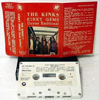 RaRe Tape THE KINKS KINKY GEMS Unique Argentina Only Cassette M- UK Mod Beat