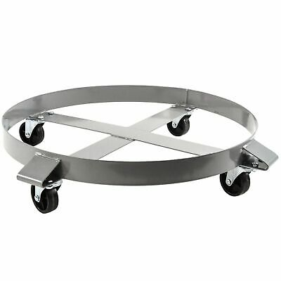 1,000 LB Drum Dolly for 55 Gal Swivel Casters Steel Frame Non Tipping Heavy Duty