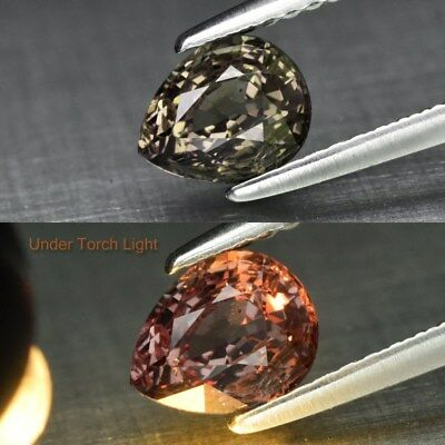 Rare! 1.01ct 6.5x5.2mm Pear Natural Unheated Color Change Garnet, Africa