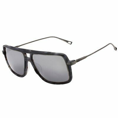 dbb40493a98 Dita Westbound Sunglasses 19015C Matte Grey Tortoise Antique Silver Flash  Lens
