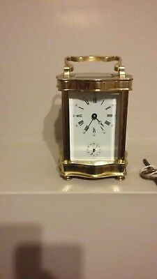 Beautiful L'epee Vintage French Doucine Serpentine Carriage Clock 8 Day & Alarm