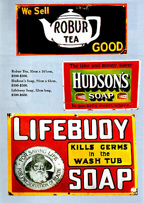 Aussie Antique Advertising Signs : Valuation Book Guide  - Retail Opportunity?