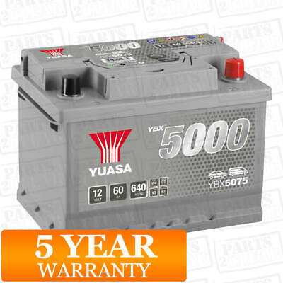 Car Battery YBX5075 Calcium Silver Case SMF SOCI 12V 620CCA 60Ah T1 by Yuasa