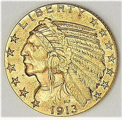 1913 Gold $5 Indian Head (a214.39)