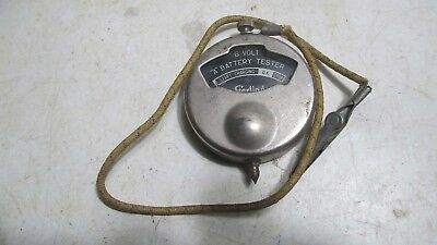 """Antique Sterling 6 Volt """"A"""" Battery Tester - Oct. 3, 1916 - Made in USA"""