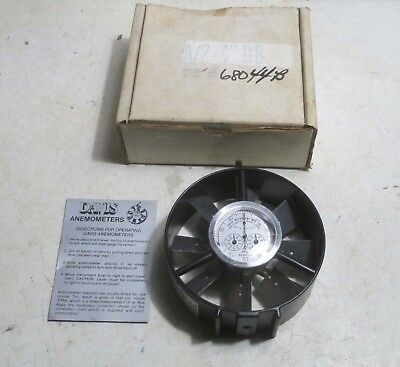 """New Davis A/2 - 4"""" BB Ball Bearing Anemometer for Air Flow"""