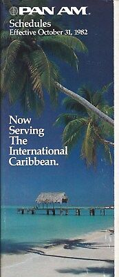 Airline Timetable - Pan Am - 31/10/82