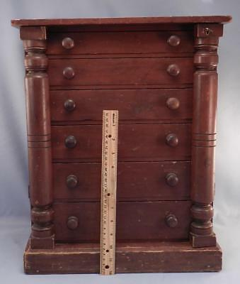 Antique Miniature Chest of Drawers~Empire~Apprentice Piece~Apothecary Cabinet