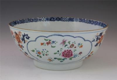 PERFECT ANTIQUE 18TH C CHINESE PORCELAIN FAMILLE ROSE PUNCH BOWL 23cm