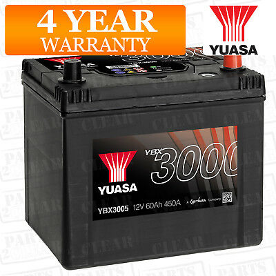 Yuasa Car Battery Calcium Black Case 12V 450CCA 60Ah T1 For Nissan Sunny Y10 1.6