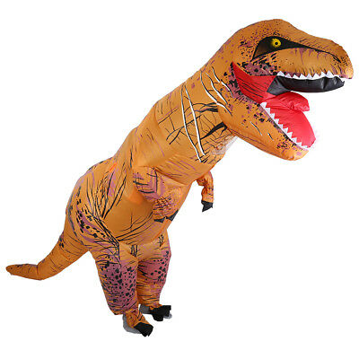 New Adult T-Rex Inflatable Dinosaur Costume Blow Up Fancy Dress Christmas Party