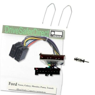 4-Head-2087-91 Head Unit Cable for Android Radio ISO//Ford Fiesta 2011
