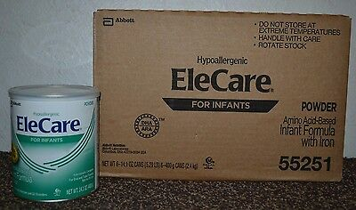 OLD STYLE LABEL 6 cans Case EleCare Infant Powder Formula FREE SHIP AAPB2/18