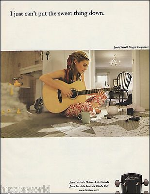 Jessie Farrell for Larrivee Acoustic Guitars ad 8 x 11 advertisement print